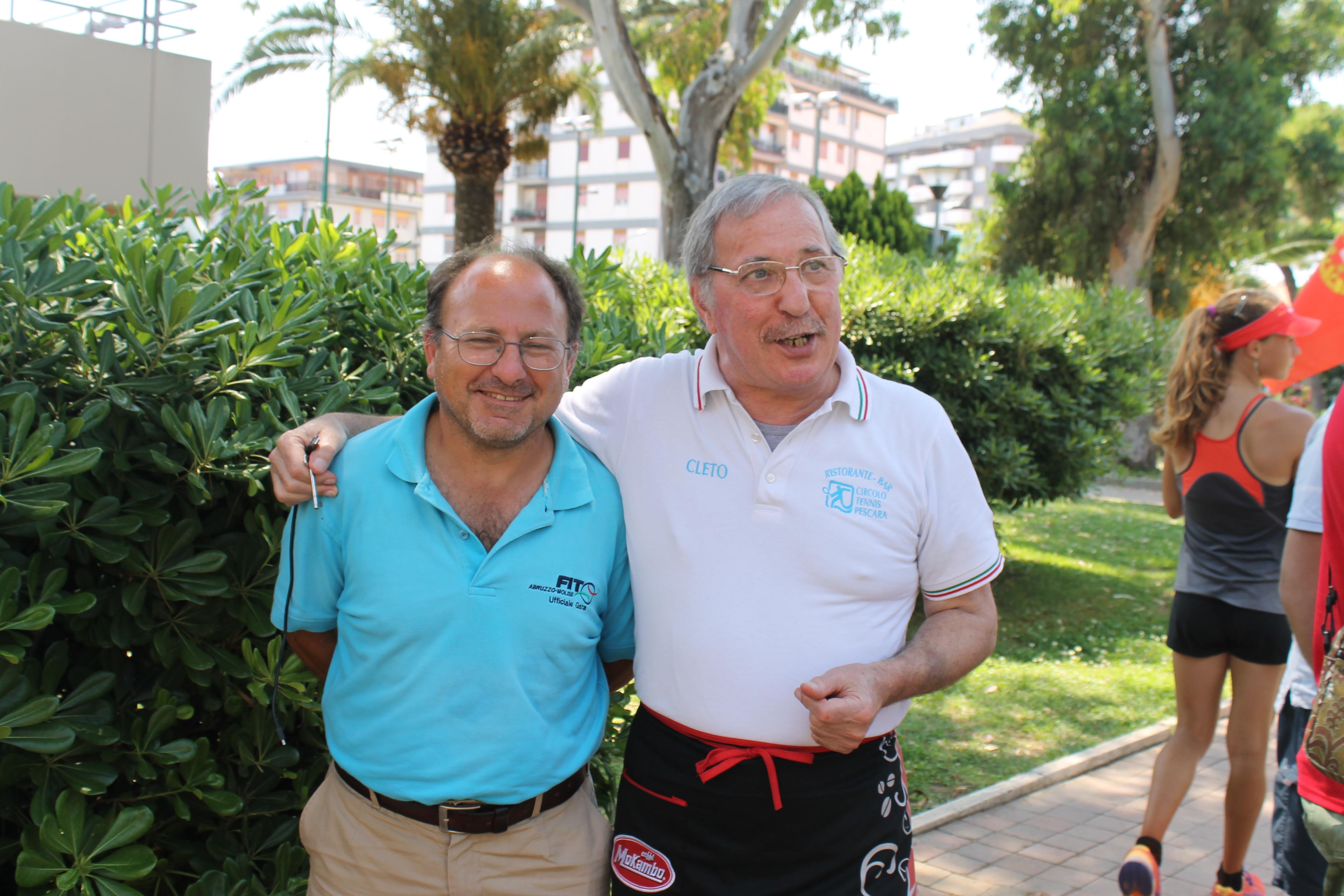 Silvio e Cleto (giudice arbitro e animatore Staff)